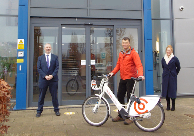 Co Bikes station for Exeter College's Future Skills Centre