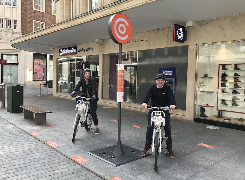 New Co Bikes station at Princesshay
