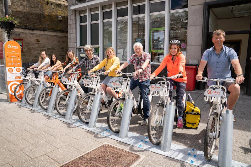 Co Bikes arrive in Falmouth for G7